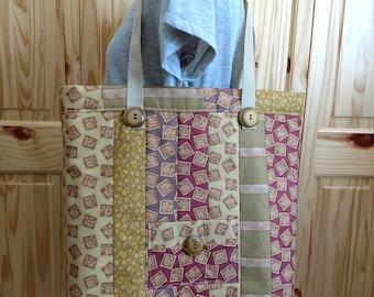 Tote, Country Rose Quilted Tote, Shoulder Bag, Handbag, Market Bag