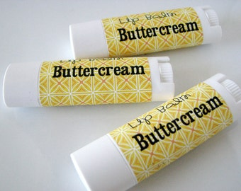 Buttercream Frosting Flavor - Vegan Lip Balm - Natural Lip Butter - Bath and Beauty - Home and Living