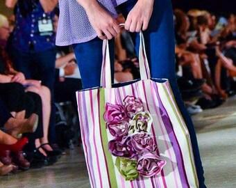 Beach bag, fabric bag, tote bag cotton, shopping bag, casual bag