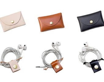 STARTER PACK / Cord Tacos / Business Card Case / Cable Organizer / Mini Wallet / Leather Wallet