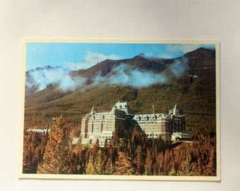 Banff Springs Hotel Postcard/Canadian Rockies/Banff National Park/Vintage Hotel Postcard/Mountains Postcard/Bruno Engler/Alberta Postcard
