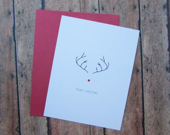Rudolph Reindeer Christmas Notecards - Set of 8 w/ Envelopes