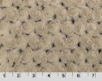 Frosted Rose Cuddle Brown/Beige from Shannon Fabrics
