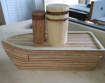 Handmade Wood Toy Boat