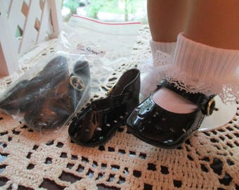"""50's Patent Leather Shoes to fit your 18"""" American Girl Doll in Black White or Red"""