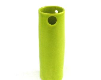 hand built porcelain vase  ...  chartreuse vessel    ...   mini vessel