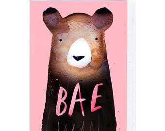 Bae Bear Greeting Card