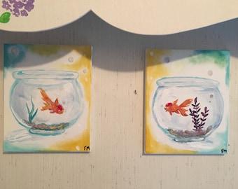 """Original Painting, So Close 8""""x10"""" (2 paintings)"""
