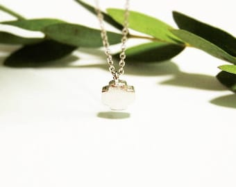 dainty sandy chubby cross necklace - delicate jewelry  gift for her under 15 usd simple layering layered delicate everyday jewerly