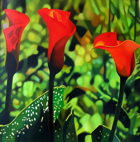 Red calla lilien blumen gemlde rote blume frau geschenk thecheapjerseys Images