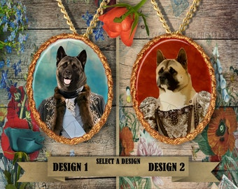 American Akita Jewelry - Pendant - Brooch  – Dog Jewelry -Dog Jewellery – Dog Pendant – Dog Brooch by Nobility Dogs