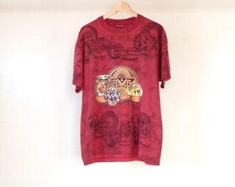 vintage colorado SOUTHWEST art print 90s CERAMICS traditional craft t-shirt