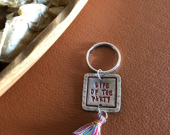 Life of the Party Tassel Keychain