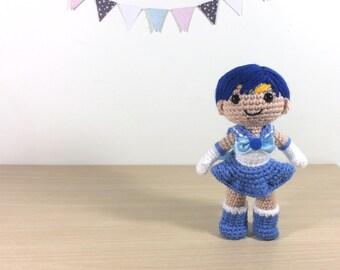 Sailor Mercury Amigurumi Crochet Plush Doll