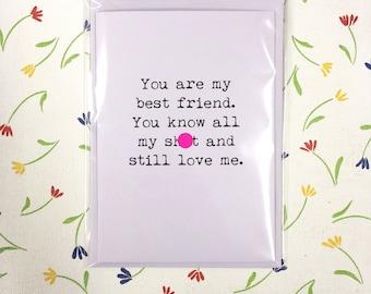 Best friend / funny / rude / card