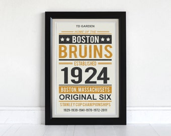 Boston Bruins - Screen Printed Poster