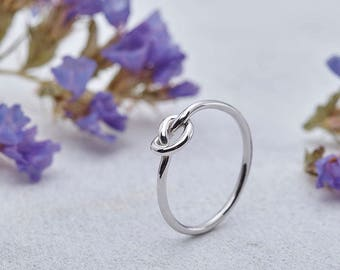 Knot Ring, Infinity Ring, Sterling Silver, 9k knot ring, solid gold