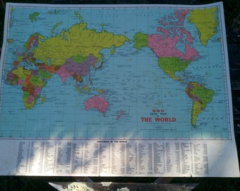Globes maps vintage etsy au vintage world map desk map wall map made by ubd australia office gumiabroncs Choice Image