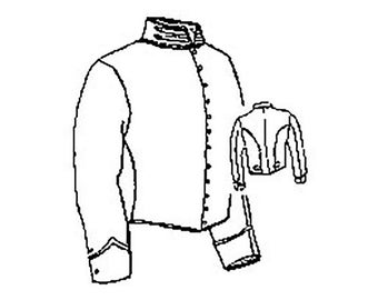 PI719 -  Civil War Era Mounted Services Jacket Sewing Pattern by Period Impressions