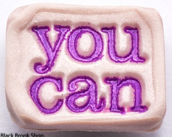 Sale / On Sale / Clearance / Marked Down / YOU CAN Motivational Handmade Purple Polymer Clay Magnet - MG00027
