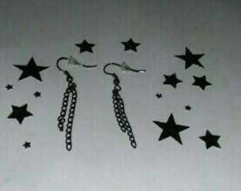 1Pair Chain Metallic Earrings