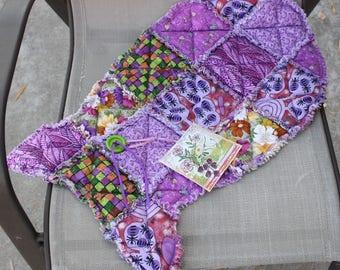 Cat Bed, Pet Supplies, Pet Bedding, Cat Mat, Fabric Cat Mat, Purple Cat Bed, Fish Cat Mat, Washable Pet Bedding, Handmade Cat Fish Mat