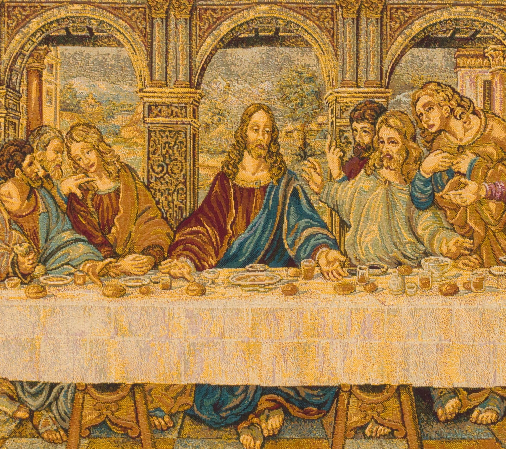 Last Supper Wall Art - Last Supper Tapestry Wall Hanging - Da Vinci ...