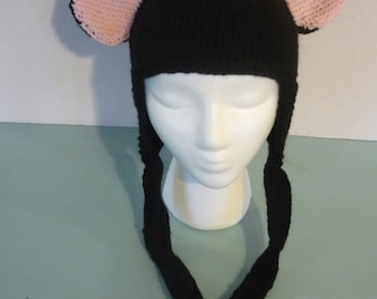 Animal Ear Hat - Black Mouse