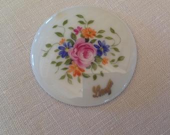Antique Limoges porcelain, diameter 40mm cabochon