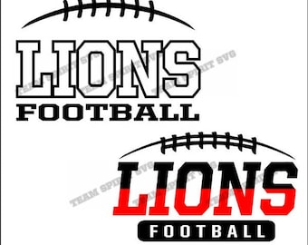 Lions Football Laces Download Files - SVG, DXF, EPS, Silhouette Studio, Vinyl Cut Files, Digital Cut Files -Use with Cricut and Silhouette