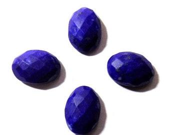 40% Sale -- Lapis Lazuli stone, 13 x 9 mm, cut stone, Oval Shape, 4 Pcs.