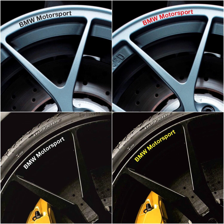 Bmw Motorsport Rims Alloy Wheel Decals Stickers Series 1 2 3 4