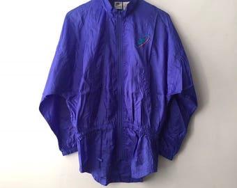 vintage nike white tag windbreaker jacket womens size 14 large 90s