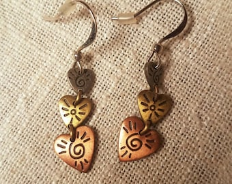 Tritone Hearts Earrings