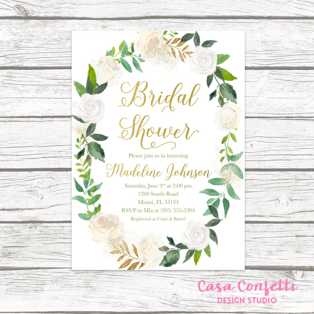 Bridal Shower Invitation Bridal Shower Brunch Invitation Bridal
