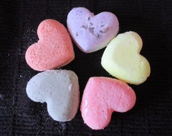5 Heart Bath Bombs