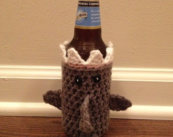 Crochet Shark Beverage Cozy