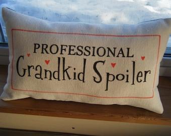 Professional Grandkid Spoiler - Pillow -