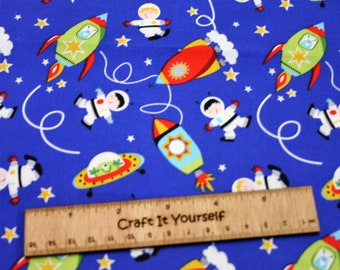 Rockets space alien Patterned Fabric 100% cotton fabric 44 inch / 110cm Baby Nursery