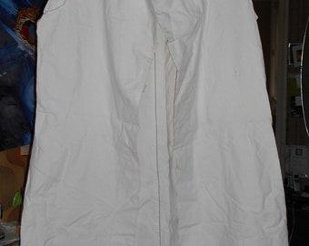 Women dress or coat sewing pattern - size XL (52) - ecru color sturdy cotton canvas