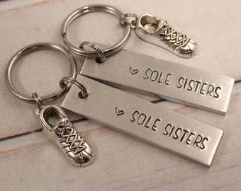 Sole Sisters - Running Buddy Keychain Set - #FF