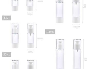 5 PCS X 15/30/80/100ml Spray Bottle Plastic Airless Pump Bottle DIY Skin Care Treatment Lotions Empty Serum dispenser with Sprayers SP_CT_B