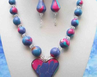 necklace  heart stir