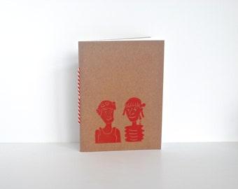 Notebook, Notizbuch, Notebook Girl Friends