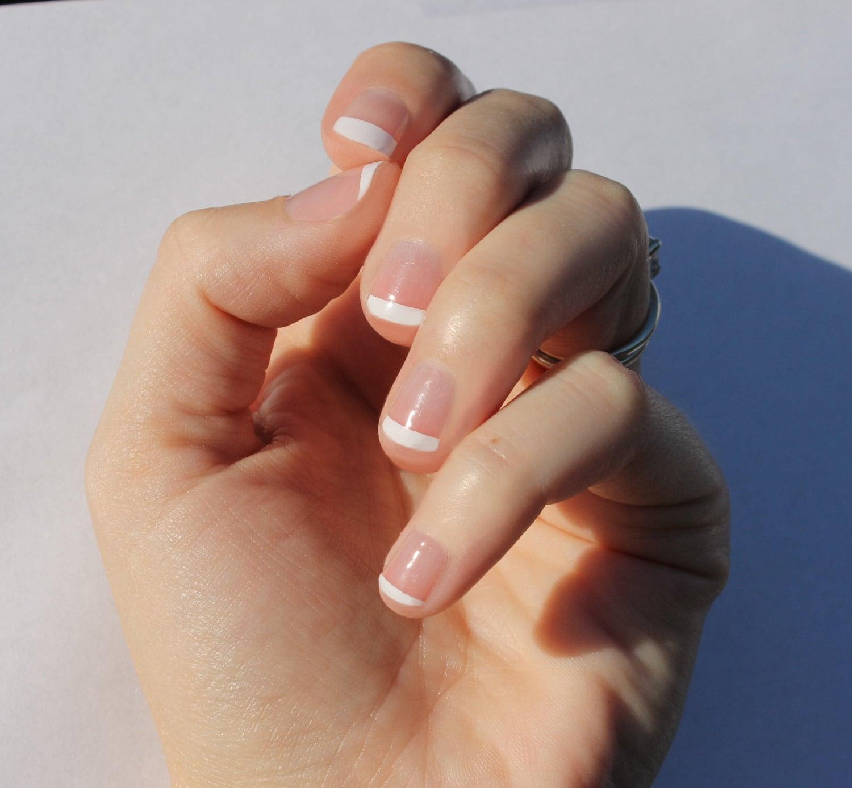White French Nail Wraps Fits Shorter Nails