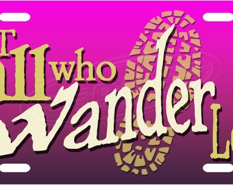 Wander License Plate Tag