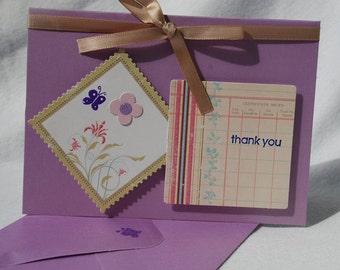 Thank You Card Handmade OOAK