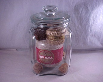 Covered Glass Canister Jar