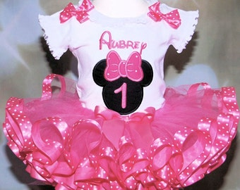 1st birthday girl outfit, Minnie Mouse 1st birthday, tutu dress, 1st birthday tutu, personalized, 1st birthday outfit, birthday outfit girl