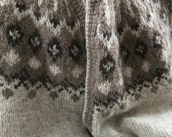 Hand knit Fair Isle Sweater